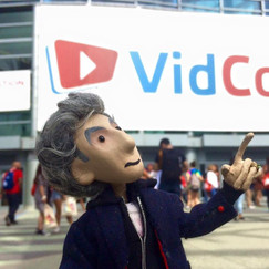 In 2016, I was invited to VidCon in California.   I spoke on a panel about Doctor Who Fan Videos on YouTube.