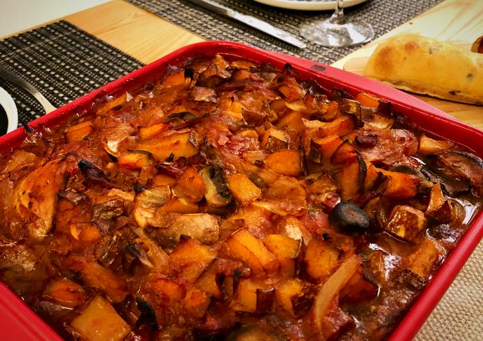滿滿南瓜的「義式獵人焗烤」