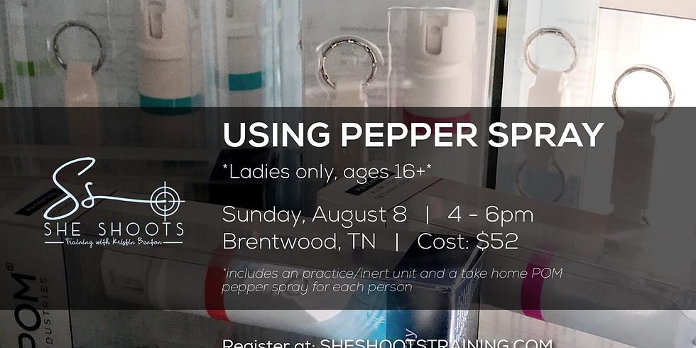 Using Pepper Spray