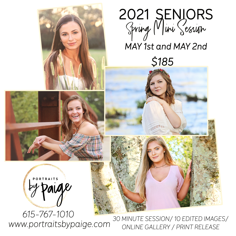 Spring 2021: Senior Mini Session