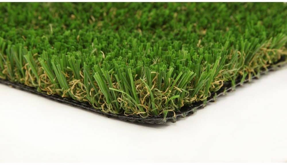 close-up view of pet-friendly artificial turf sold at home depot