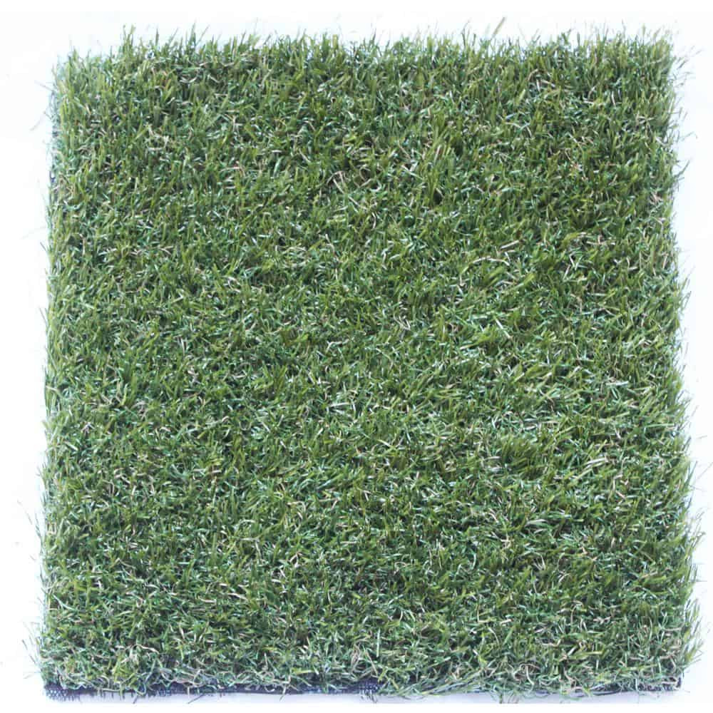 Patch of Polyethylene artificial turf for landscape design projects