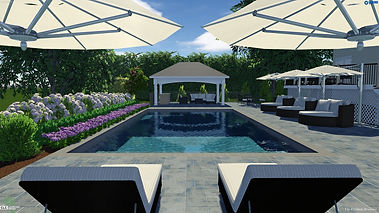 in-ground pool and patio paver pool deck