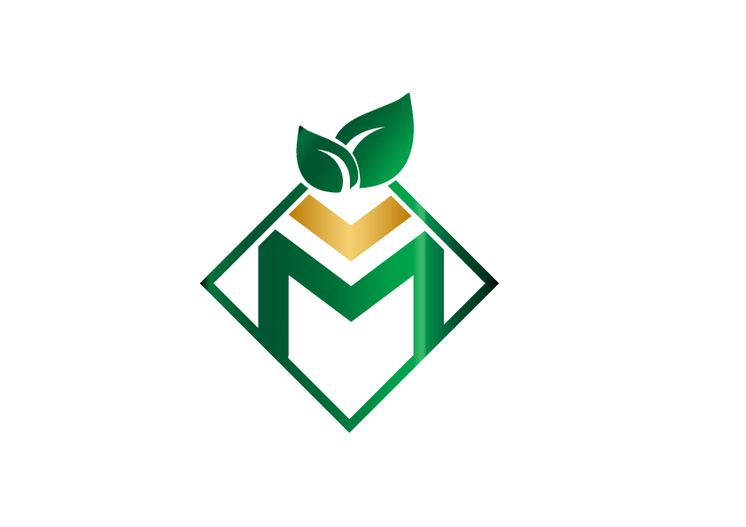 Green and gold JM Mento Landscape Design logo