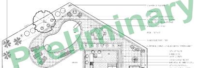 CAD drawing of JM Mento landscape design project