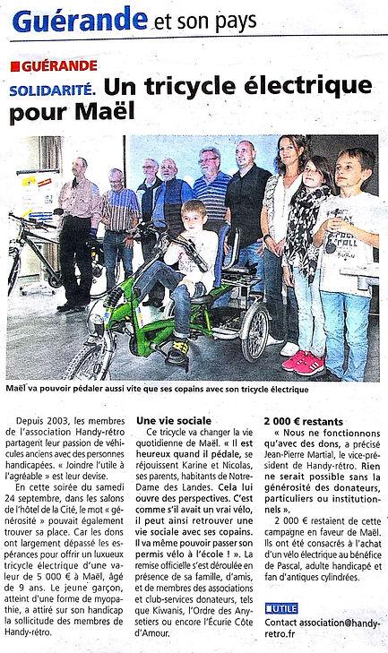 Article et photo de presse Echo de la Presqu'île guérandaise