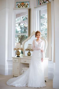 Inzpire Raine Sleeves Wedding Gown