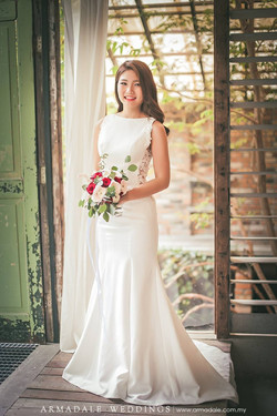 Inzpire Boat Neck Lace Wedding Gown