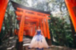 osaka japan destination wedding ballgown