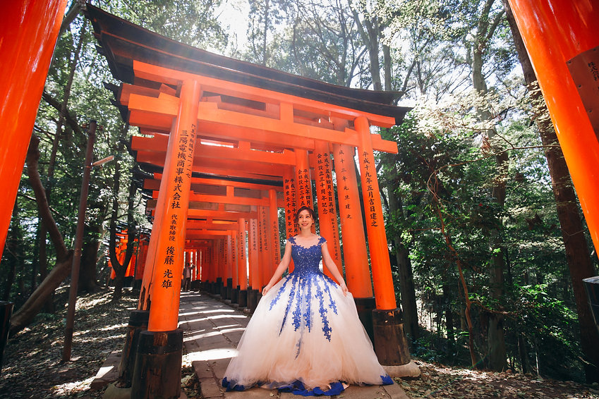 osaka japan destination wedding ballgown
