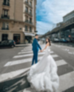 mermaid long train bridal gown streets of paris europe