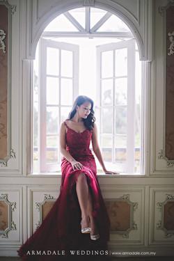 Inzpire Seductive Maroon Gown