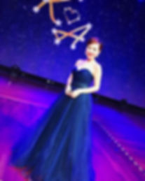 blue sparkle shimmer ballgown starry