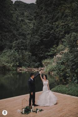 Inzpire Mermaid Wedding Gown Outdoor