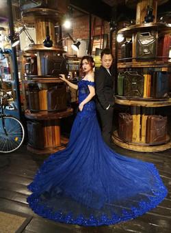 Inzpire Lauren Blue Mermaid Gown