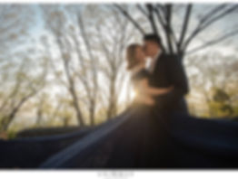 destination wedding outdoor nature forest blue off shoulders illusion heart ballgown princess gown dress