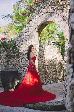 Inzpire Lauren Red Mermaid Gown