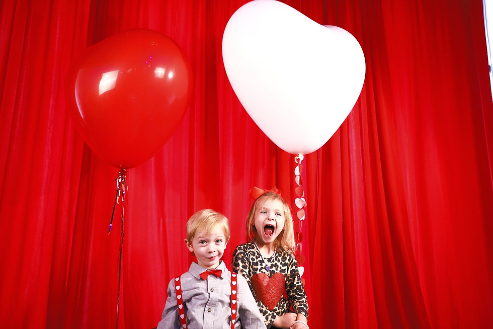 Valentines Balloons with Kids