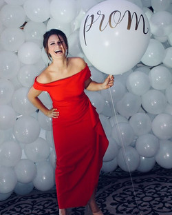 """The """"Prom"""" balloon was huge hit! Calligr"""