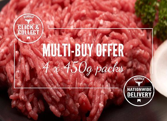 Multi-buy Steak Mince (4 x450g)