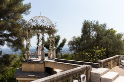 Destination wedding venue with sea view in south of France in French castle
