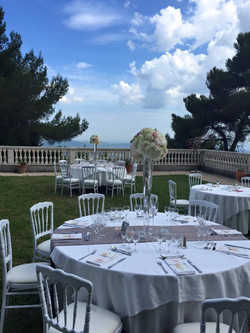 luxury destination weddings in south of France Castle , on French riviera with Sea view