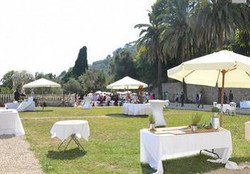pool & sea view in the beautiful French wedding venue chateau in south of France