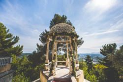 South of France wedding venue with sea view in French Chateau