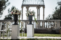 Destination wedding venue in a chateau in south of France with sea view