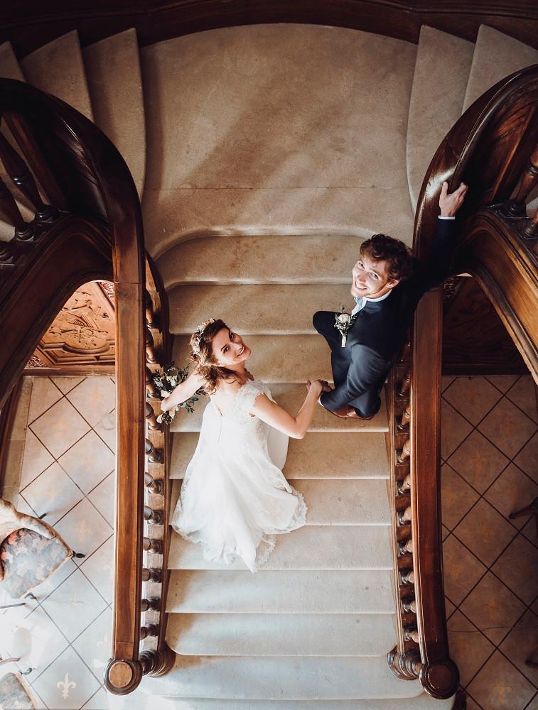 romantic French wedding venue in Castle