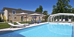 Romantic chateau to rent for a week-end getaway or holiday rental villa in France with pool and bedr