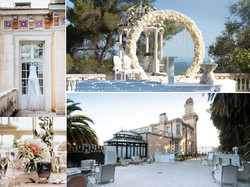 chateau wedding venue rental in South of France with pool