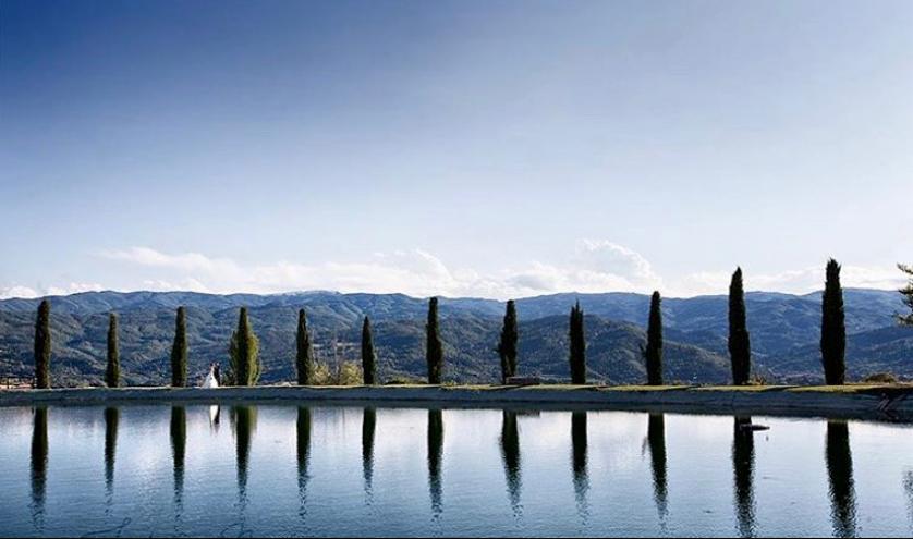 Pool viez from Italian wedding venue & rental
