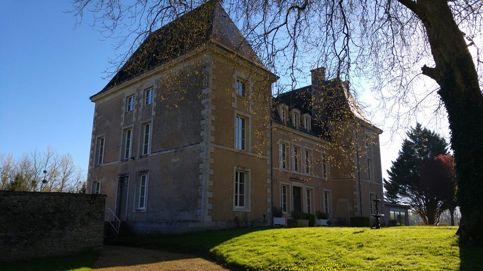 romantic holiday in France chateau with pool