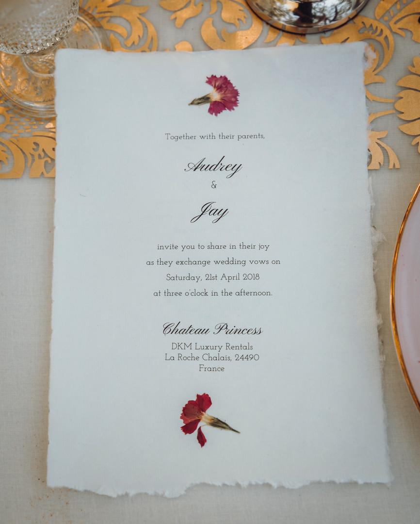 Wedding in France chateau