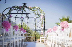 events and wedding reception in French chateau near Nice with frENCH RIVIERA VIEW