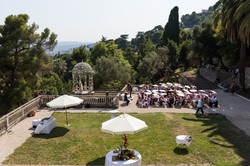 Romantic French chateau to rent for large & private weddings with sea view in South of France