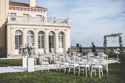 pool & sea view for this chateau to rent in south of France for wedding venues & events