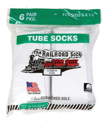 6 Pk Youth Tube Sock White (7020)
