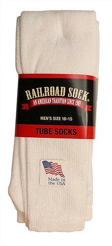 3 Pk Men's Tube Sock White (6055)
