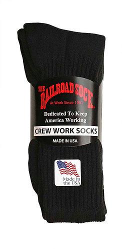 3 Pk Men's Crew Sock Black (6031)