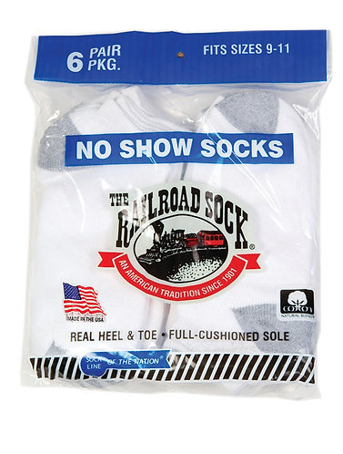 6 Pk No Show Sock White (8084)