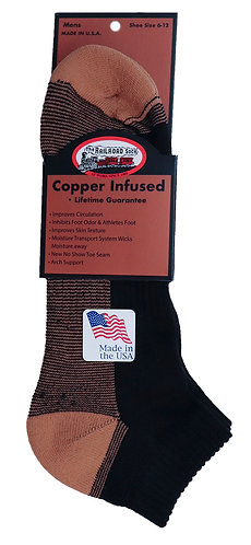 2-Pack Men's Copper Low Cut Sock Black (4001)