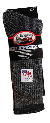 Men's Wool Boot Sock Black (2965 BK)