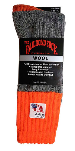 Single Pair Men's Full Terry Wool Outdoor Sock (2864)