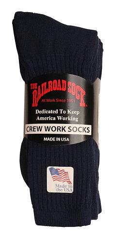 3 Pk Men's Crew Sock Navy (6034)
