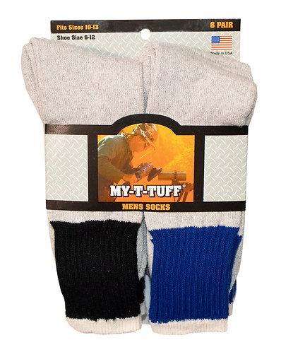 MY-T-TUFF 6 Pair Crew Boot Sock (MT-1)