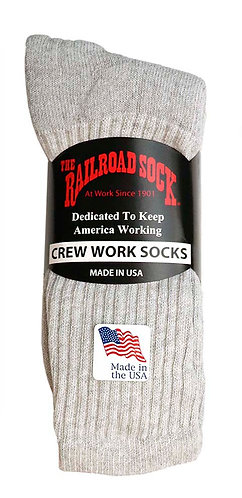 3 Pk Men's Crew Sock Grey (6032)