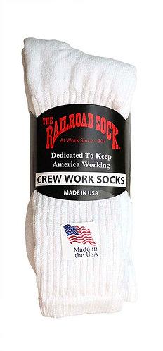 3 Pk Men's Crew Sock White (6030)