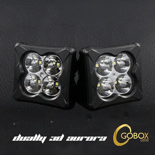 Par De Duallys 3D Cree 45w 3000lm 4pcs 5w 6500 Kº